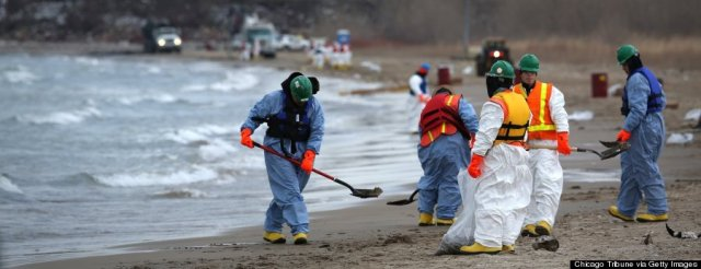 Lak Michigan oil spill